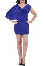 Kim Kardashian Inspired Drape Shoulder Mini Party Bodycon Dress Size 8-14