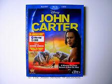 Disney Edgar Rice Burroughs JOHN CARTER of Mars on blu & DVD w/ Mini Documentary