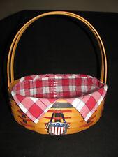 Longaberger 2002 All American Casserole Pie Basket Patriotic Complete Set