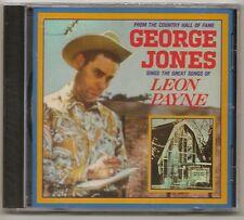 """GEORGE JONES, CD """"SINGS THE GREAT SONGS OF LEON PAYNE"""" NEW SEALED"""