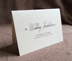 Personalised Day/Evening Handmade Wedding Invitations-Samples Available. Claire