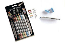 COPIC CIAO MARKER - 6 PEN SET - SCRAP & STEMPELSET 2 - TWIN TIPPED