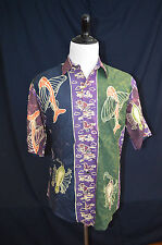 THE TERRITORY AHEAD Mens Hawaiian Shirt L Evolution Fossil Flying Fish Large SS