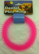 Soft Spiky Plastic Pink Teething Ring Toy for dogs, puppies and other pets