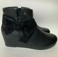 Michael Michael Kors Booties Black Leather Ankle Boots Women's Size 5