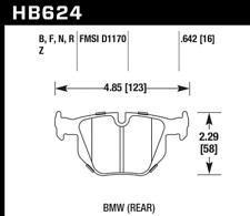 Hawk Disc Brake Pad Rear for 06-15 X1 / 335i / 335is / 335d / 335xi / 330i