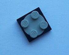 """Piatto girevole 2x2 LEGO (MPN 3079/3080), in nero e grigio """"vecchio"""" (pre-2003)"""