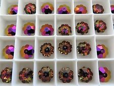 6 Crystal Volcano Swarovski Margarita Beads 3700 8mm