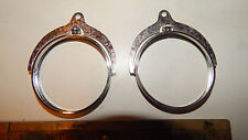 2 Silver Plated IKE MORGAN Dollar Spinning Coin Holder  Bezel For Key Chain Pend