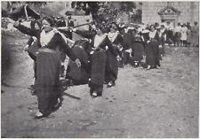 D7493 Croazia - Lagosta - Tradizionale danza di Carnevale - Stampa - 1930 print