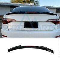 Blade Style Rear Trunk Lip Wing W/ Marker Light Black Fit For VW Jetta MK7 19-21