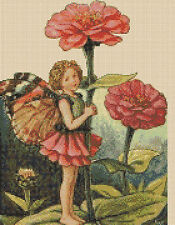 Cross Stitch Chart - Flower Fairy - Zinnia    TSG37 FREE UK P&P