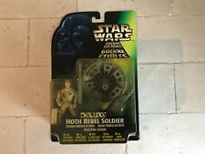 KENNER 1997 STAR WARS DELUXE HOTH REBEL SOLDIER  CARDER FIGURE NEVER OPENED MIB