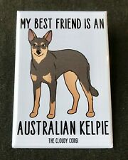 Australian Kelpie Magnet Handmade Dog Gifts Accessories and Kitchen Home Decor