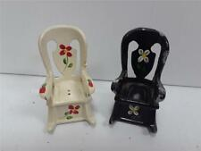 Vintage Cast Iron Salt and Pepper Shakers Rocking Chairs