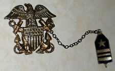 {{Vintage}} WWII USN Double Pin Officer Badge