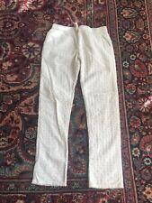 Gapkids Girls White Cotton Eyelet Pants Size 10