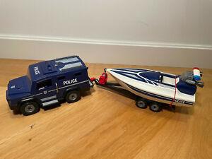 Playmobil Polizei Truck mit Speedboot und 2 Polizisten 5187