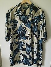 Scandia Woods MEN'S XL Hawaiian Shirt 100% Rayon - XLG/TL