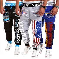 Men's Sweatpants Gym Casual American Flag Loose Sport Trackwear Jogging Trousers