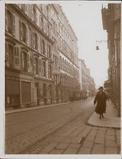 France, Cannes, Rue d'Antibes  Vintage silver print, Provenant d'un Al
