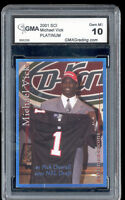 2001 Michael Vick Sports Card Investor SCI Platinum rookie gem mint 10