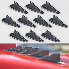 10X EVO-Style PP Roof Shark Fins Spoiler Wing Kit Vortex Generator Carbon Black