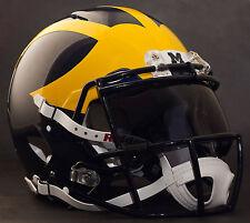 *CUSTOM* MICHIGAN WOLVERINES NCAA Riddell Speed AUTHENTIC Football Helmet