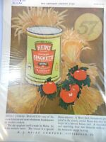 Vintage Ad Heinz 1924 Cooked Spaghetti Magazine Advertisement Color Fall Harvest