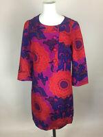 Women's BIBA True VIntage Midi Floral/Paisley Pattern Silk/Cotton Dress. UK10