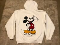 Vintage 90s Disney Mickey Mouse Spell-Out Embroidered Hoodie Adult Size Small
