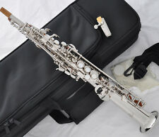 Professional Silver Eb Sopranino Saxophone Sax Low B to high F FREE mouthpiece