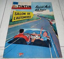 TINTIN 03/10 1963 N°780 HERGE SPECIAL SALON AUTO JIM CLARCK JAGUAR E PEUGEOT