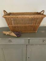 Vintage French Boulangerie Bakery Wicker Basket-Laundry Basket