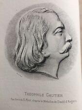Théophile GAUTIER / MADEMOISELLE DE MAUPIN 1880 Reliure 1/2 MAROQUIN