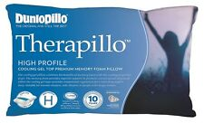 Dunlopillo Therapillo Cooling Gel Top High Profile Memory Foam Pillow RRP$199.95