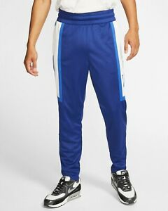 Nike Air Pants Men's Blue Color Block Semi Fitted Casual Active Wear