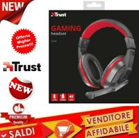 Cuffie TRUST Gaming PC Padiglioni Over Ear Jack 3. mm nero/rosso MICROFONO 21953