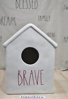 Rae Dunn BRAVE Birdhouse House-Shaped Decor Fourth of July Theme HTF NEW '20