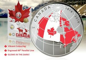 39th Parallel Canadian Glow In The Dark Coin Set Scarce