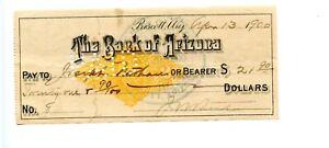 1900     Prescott, Bank of Arizona territory. RNX7