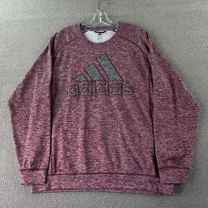 Adidas Team Issue Mens Burgundy Red Heathered Lightweight Pullover Sweatshirt XL