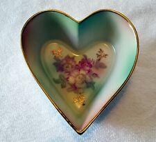 House of Goebel Heart Shape Candy Dish Floral DesignBaveria W.Germany