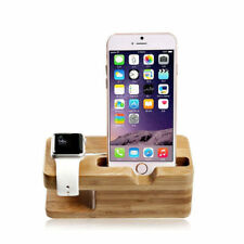Wood Bracket Docking Station Cradle Holder for iPhone and Apple Watch