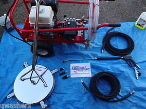 PRESSURE WASHER JETWASH HONDA DRIVEWAY PATIO CLEANING PACKAGE 21LTRS @ 200BAR