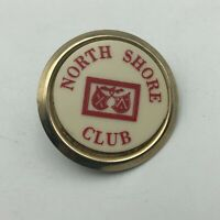 Vintage North Shore Club Tie Clip Badge Clip-On Pin Button Not Sure  A3