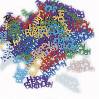 Sparkle Happy Birthday Table Confetti Sequin Number 13-80 Wedding Table Scatter
