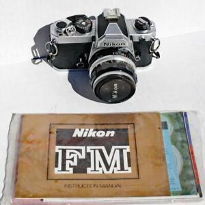 Vintage Nikon FM 35mm SLR Film camera w/ Nikkor-H 50mm, F/2 Lens