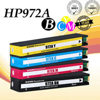 4pk High Yield 972A Ink Cartridge for HP PageWide Pro 477dw 377dn 577dw 452dw