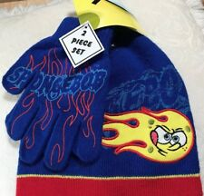 NWT SPONGEBOB Squarepants HAT & GLOVE Set Sz 4-16 Boy